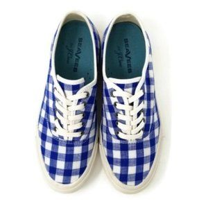 SeaVees for J Crew Gingham Legend Sneakers Size 7